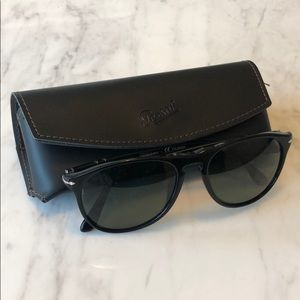 Persol Men's Round Acetate Sunglasses. Polarized.